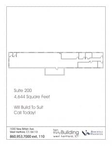 West Hartford office space - build to suit